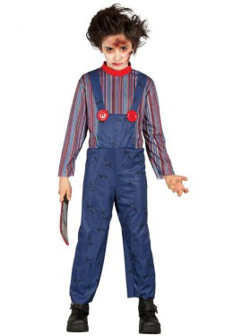 Disfraz para Halloween de Killer Doll para niños