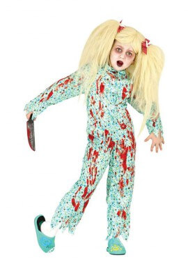 Déguisement Exorciste Halloween pour fille plusieurs tailles