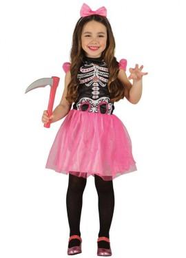 Disfraz de Esqueleto Tutú rosa para niñas