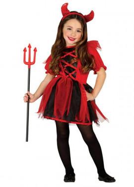 Disfraz para niñas de Diablesa rojo y negro