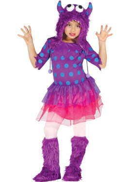 Disfraz de Monstruita lila para niñas
