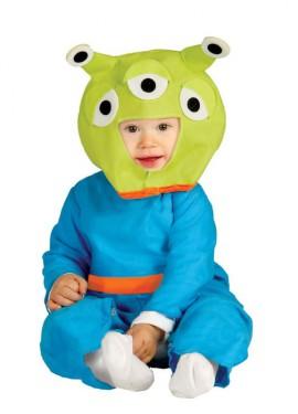 Disfraz de Alienígena Baby verde para bebés