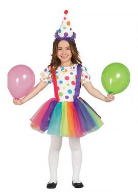 Disfraz de Payasita Arcoiris para Niñas