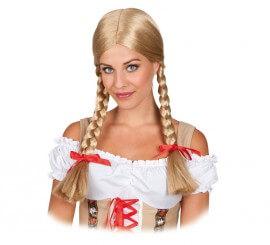 Perruque Blonde de Tyrolienne à nattes