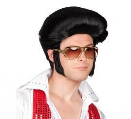 Perruque Rockeur effet Banane Elvis