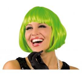Perruque de Cabaret Verte avec frange