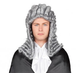 Peluca de Juez con tirabuzones