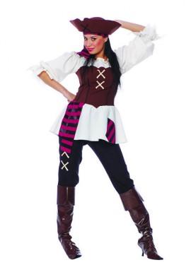 Disfraz de Pirata adulta para chicas