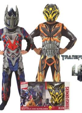 Disfraz Optimus Prime y BumbleBee en Caja Niño