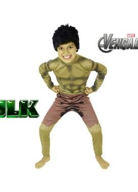 Disfraz de Hulk para niños de 3 a 4 años