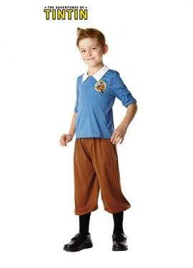 Déguisement de Tintin pour enfants de 3 à 4 ans