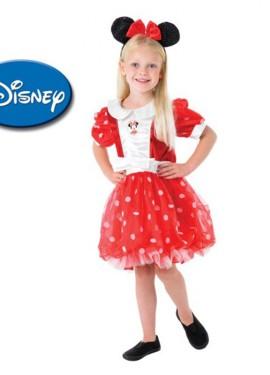 Disfraz de Minnie Mouse roja deluxe niña