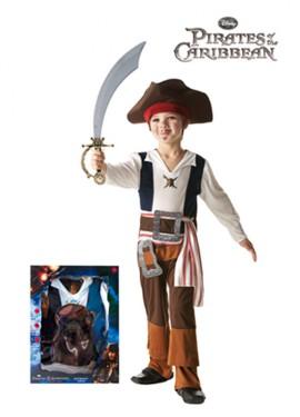 Disfraz de Jack Sparrow en caja niños de 7-8 años