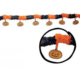 Guirnalda Calabazas de 31 x 300 cm. para Halloween