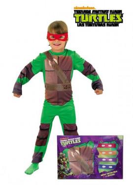 Disfraz Las Tortugas Ninja en Caja para Niño.