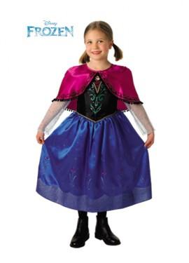 Disfraz de Anna de Frozen Deluxe para Niña