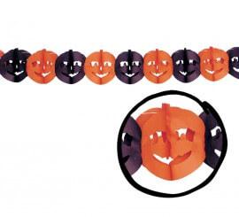 Guirnalda Calabazas de 22 x 300 cm. para Halloween