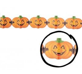 Guirnalda Calabazas de 15 x 400 cm. para Halloween