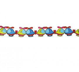 Guirlande pour enfants d'Hélicoptères de 13x400 cm