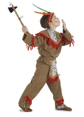 Disfraz de Indio lujo para niños