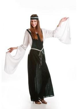 Déguisement Princesse Médiévale vert pour Femme