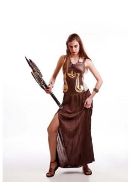Disfraz de Guerrera Romana marrón para mujer
