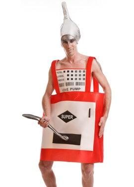 Disfraz de Gasolinera con manguera para adultos