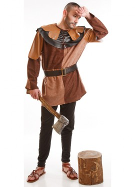 Déguisement d'aubergiste médiéval marron pour homme