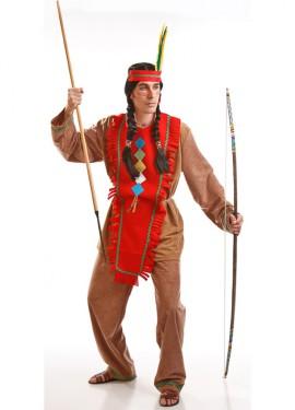 Disfraz para hombre de Indio marrón