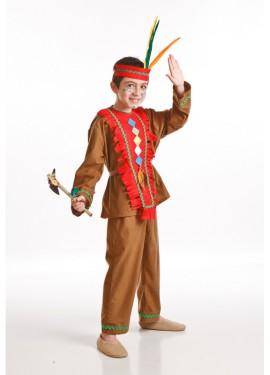 Disfraz para niños de Indio marrón
