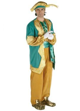 Disfraz de Paje del Rey Melchor lujo adulto
