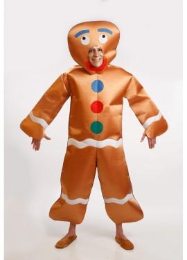 Disfraz de Muñeco Galleta de Jengibre para Hombre talla M-L