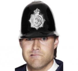 Casco de Policía Bobby inglés de plástico con Insignia