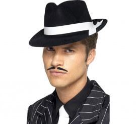 Sombrero de Gánster Al Capone flocado