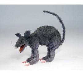 Rata Gris de 24x33x10 cm para Halloween