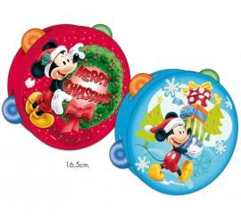 Pandereta de Mickey de 16,5 cm para Navidad 2 surtidos