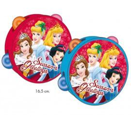 Pandereta de Princesas de 16,5 cm para Navidad 2 surtidos
