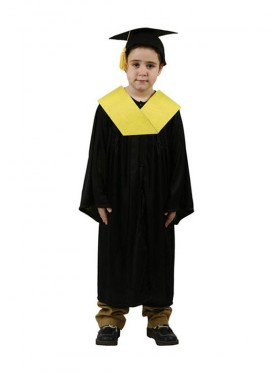 Déguisement d'Étudiant Diplômé jaune enfants plusieurs tailles