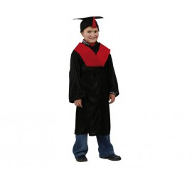 Disfraz de Licenciado o Graduado rojo