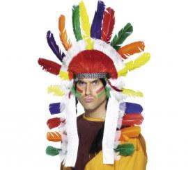Penacho Jefe Indio Multicolor