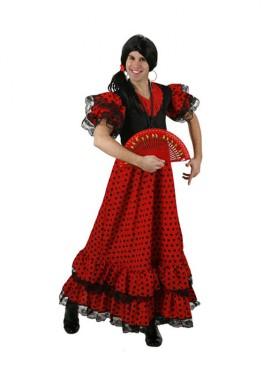 Disfraz de Flamenca lunares para hombre talla M-L