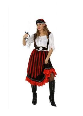 Disfraz de Pirata de Rayas para mujer