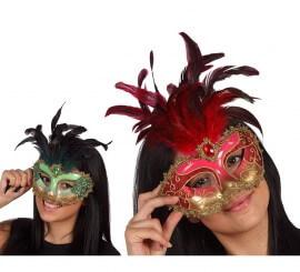 Masque de Venitien à Plumes 2 coloris disponibles