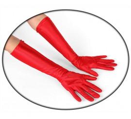 Guantes largo de color rojo