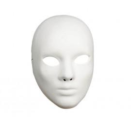 Masque Blanc de Théâtre en carton