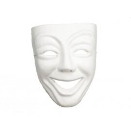 Masque Blanc Sourire de Théâtre en carton