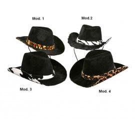 Sombrero Vaquero con cinta piel de animales