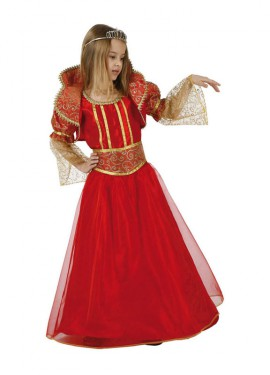 Disfraz de Princesa o Reina rojo para niñas