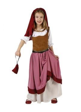 Disfraz Moza Criada o Mesonera para niña