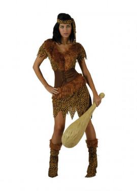 Disfraz barato de Cavernícola para mujer
